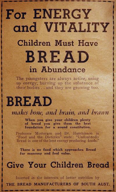 Bread advertisement