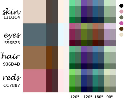 In fact, I had fun yesterday playing with a personal color palette.